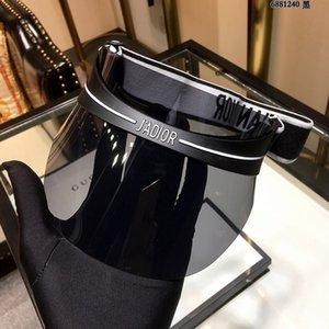 2019 Designer Visier Der neue Schirm leer oben Striped Sonnenhut für Frauen hohe Qualität Visier Art und Weise polarisierte Lensin
