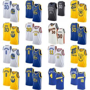 Насс 30 Стивен Карри 11 Клэй Томпсон баскетбол Джерси мужские 4 Крис Веббер 10 Тим Hardaway баскетбольной рубашка