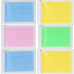 Panno di poliestere Piccola bandiera colorata Scuola materna Portatore standard Bandiere a mano Scuola Esercizi mattutini Stendardo rosso 0 3zh2 L1