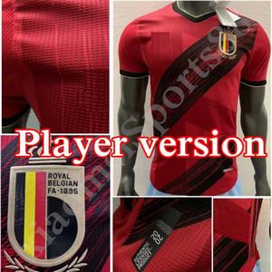 2020 European Cup Player versão Bélgica camisa de futebol E.HAZARD R. Lukaku Camisetas equipa nacional 20 21 lar longe camisa de futebol de Bruyne