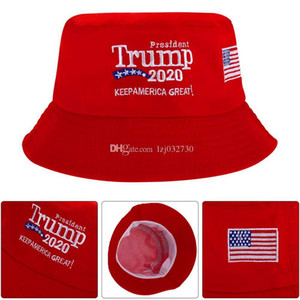 Trump 2020 Embroidered Bucket Cap Keep USA Great Hat Cotton Sport Fisherman Cap Fashion Travel Camping Sun Hat A120