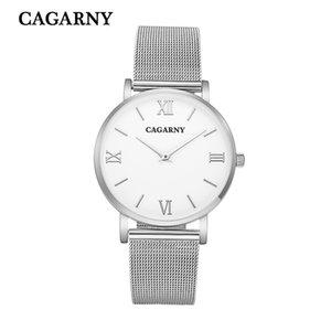 CAGARNY Men's DZ7370 Luxury Fashion Date Display Multi-Time Zone Quartz Watch Sports Classic Red Clock Relogio Masculino
