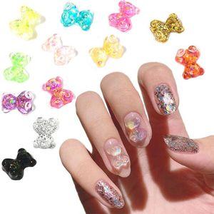 500pcs lot nail charm rhinestone cartoon pattern nail decoration jelly Bear stone gems 3d ART Alloy CZCF492342