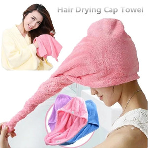 Microfibre Chapeau sèche rapide Baignoire Serviette Casquettes Cheveux Magic Séchage Serviette Super absorbant Turban Turban Wrap Hat Spa Caps Casquettes Emballage Cheveux BWC424