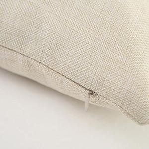 DIY 승화 일반 삼베 쿠션 커버 자수 공백의 40cmx40cm에 대한 16 × 16 인치 천연 폴리 린넨 베개 케이스 공백을