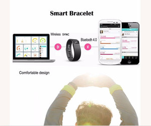 Muñequeras Fibit TW64 Muñequera Pulsera inteligente rastreador de ejercicios Bluetooth 4.0 Fitbit Flex reloj para iOS Android