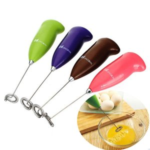 Mini Handheld Stainless Steel Egg Beater Coffee Milk Frother Milk Foamer Electric Mixer Battery Operated Kitchen Tools HH-A486