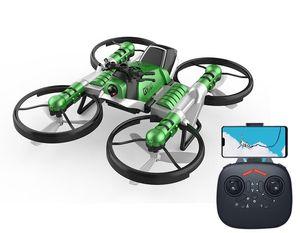 2 en una distancia Transformble control Quadcopter juguete de la motocicleta, WIFI FPV avión, la altitud Hold Drone 360 ° Flip, para Navidad Kid Boy regalo, 3-3