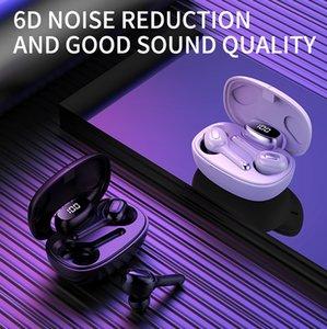 T9S TWS Wireless Bluetooth 5.0 سماعات سماعات سماعات سمعية باس مع شاشة صندوق شحن Ture اللاسلكي TOURE Mini TWS سماعات سماعات للهواتف الذكية