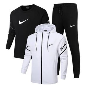 Yepyeni Eşofman Erkekler Seti Harf Spor Eşofman Erkek Ter Eşofman Ceket Hoodie Pantolon Erkek Spor Takımları ile