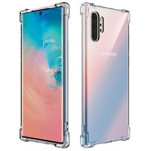 Clear Case TPU telefone para Samsung Galaxy S10 5G Nota 10 Além disso M20 M30 M40 A10 A20 A30 A40 A50 A60 A70 Tampa Transparente