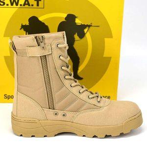 Ins Militärstiefel Delta Tactical Boots im Freien spezielle Stiefel Soldaten Polizei Wüste Schuhe atmungsaktiv tragen 2019 Klettern Training hohe Schuhe