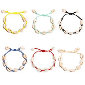 2019 European and American new shell bracelet Amazon bracelet creative retro beach shell weave bracelet fashion