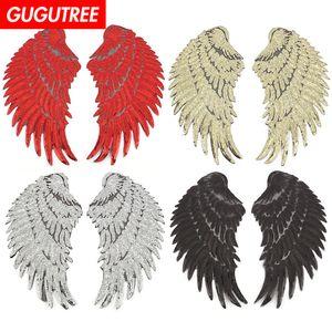 paillettes GUGUTREE broderie gros patches paire patches ailes badges patchs pour les vêtements BP appliques-610