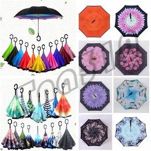 Commercio all'ingrosso - automobile dell'ombrello della pioggia di terza generazione Reverse ombrello protezione solare asta diritta inverso ombrello I481