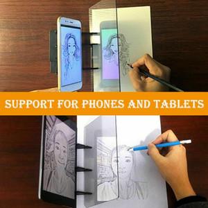 Imaging tablero de dibujo de bosquejo de Reflexión de atenuación soporte Pintura placa de espejo de Búsquedas Copiar tabla de proyección Junta Plotter