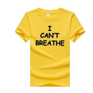 "Mens Designer T-shirts ""I CANT BREATHE"" Fashion Tees Tops Men Women 2020 Summer Hot Sale Tshirts Luxury T Shirts 14 Styles New"