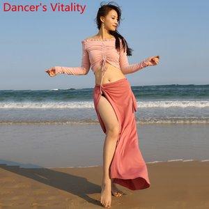 Yeni Belly Dance Pratik Giyim İpli Top Bandaj Uzun Etek Oryantal Dans Grubu Performansı Eğitim Kıyafetler