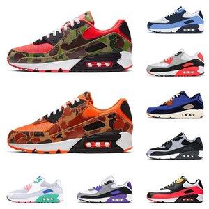 Nuevos nike air max airmax 90 zapatos para correr para hombre zapatillas de deporte Reverse Duck Camo Cool Grey Hyper Grape Viotech hombres corredores zapatillas deportivas