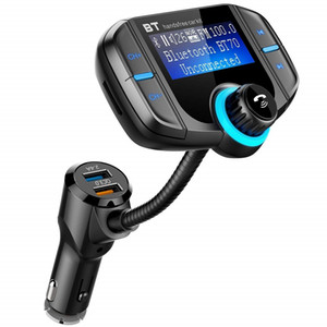 Transmissor FM Modulador QC 3.0 Carregador Rápido Handsfreee Bluetooth Car Kit Rádio MP3 Player Dual USB com AUX TF Slot Para Cartão