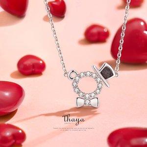 Thaya Argent 925 Conception originale Belle Cristal Choker Argent 925 pour les femmes nacklace Fine Jewelry cadeau