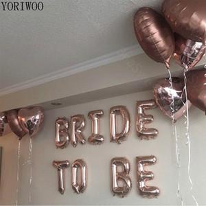 Yoriwoo 16 inch ارتفع الذهب العروس ليكون بالونات احباط بالونات إلكتروني الزفاف العازبة حزب زينة الدجاجة حزب الملحقات