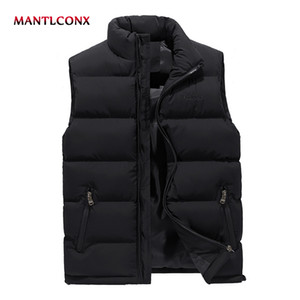 MANTLCONX новый мужской жилет без рукавов зима повседневная пальто мужской мягкий утолщаются жилет мужчины жилет плюс размер 6XL куртка без рукавов