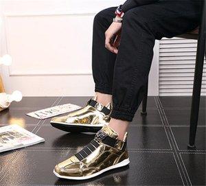 scarpe 2020 New coreano alla moda stilista s argento oro nero lucido brillante tappeto rosso preferito Mr. eleganti scarpe di qualità