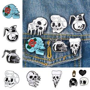 Halloween Skull lega Pin Spilla smalto Halloween Pin Spilla Horror Skull Rose lega dello smalto di accessorio per il vestiario