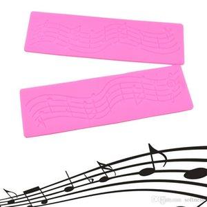 1Pcs Musical Note Silikon-Fondant-Kuchen-Formen Spitze Matte Schokolade Dekorieren Werkzeuge DIY Küche Backzubehör liefert
