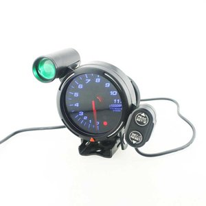 New Universal 3,75 pouces tachymètre voiture TACHOMETER Jauges Light Blue LED