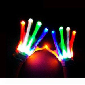 LED lighting gloves flashing cosplay novelty glove led light toy item flash gloves for Halloween Christmas Party ZA2570