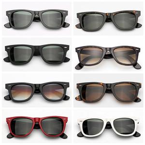 Lentes de Sol Lentes de cristal verdadero marco de acetato UV400 gafas de sol mujer de los hombres de alta calidad con funda de piel original, caja, accesorios!