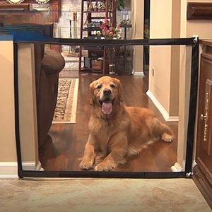 Super durável e portátil fácil de instalar Fence Dog Isolamento Net portátil Isolamento Folding Pet Barrier Magic-gate de segurança