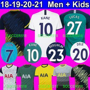 Tottenham Hotspur 2019 HARRY KANE 3ème maillot de foot vert de SON SON Heung-Min Son domicile blanc, maillot de foot bleu Lilywhites ERIKSON LAMELA DELE ALLI