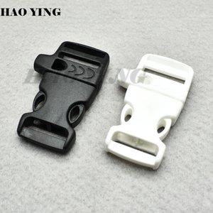 "50pcs lot 3 4"" Emergency Side Release Whistle Buckles For Paracord Bracelet Outdoor sports Bracelet accessories"