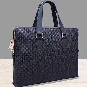 Venta al por mayor- 2017 Genuine Leather Solid Men Briefcase Men Messenger Bags New Leather Bag Men Head Shoulder