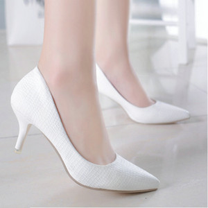 Shallow mouth Trending Shoes 2020 summer pointed high heels fine heel comfortable working shoes simple women singles