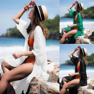 Sexy Bikini Beach Parei Copri bagno tunica nuova Crochet Beach Coverup costume da bagno Robe De Plage Costume donna Pareo Coverup