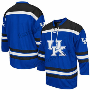 Kentucky Wildcats Stitched College Hockey Jerseys Mens Sewn All Embroidery Customized Any Name Number Sports AHL hockey Sweaters