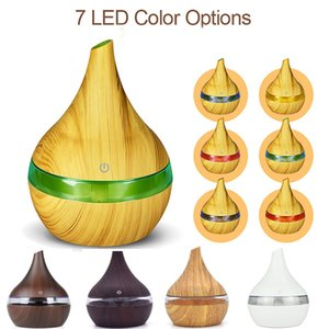 New USB Electric Aroma Diffuser Led Wood Air Humidifier Essential Oil Aromatherapy Machine Cool Purifier Maker For Home Fragrance XD20323