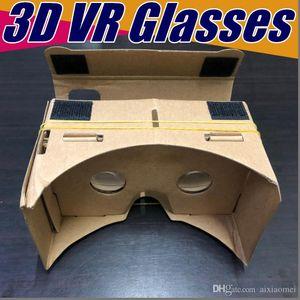 100X DIY 3D Glasses Google Cardboard VR BOX II 2.0 Versione VR realtà virtuale VR occhiali 3D per 3,5-6,0 pollici Smartphone nuovo iPhone X 5 6 7