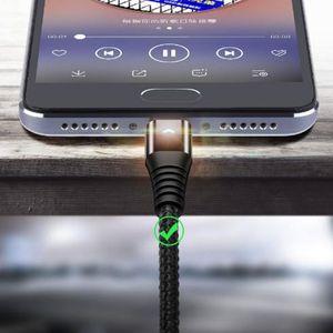 LED Lighting Micro cabo USB 3A carregamento rápido carregador microUSB Cord Para Tablet Android USB Tipo C Tipo-c Cable Luz Cabo Para Samsung S10