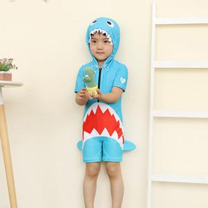 Fused Rashgard costume da bagno dei bambini costume da bagno per il bambino del bikini bambini Rash Guard Boy bambini figlio unico pezzo bello coreano caldo