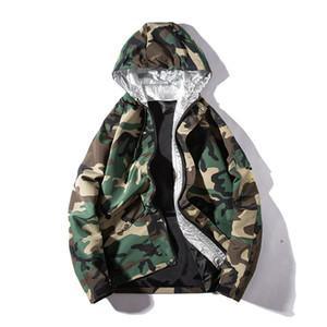 Veste pour hommes New Cultiver sa moralité assortie Sweat à capuche Vestes de baseball masculin Uniforme Casual Camouflage manteau Manteau 2019 Printemps