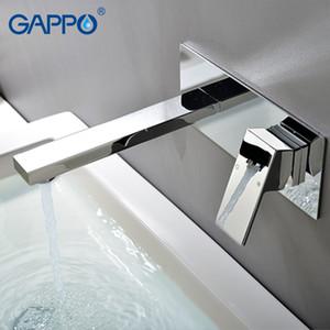 شنت GAPPO حوض صنبور شلال الصنابير بالوعة الحمام الحنفيات حمام جدار المياه دش خلاط الطلاء النحاس صنبور