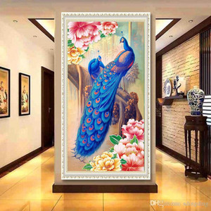 DIY Peacock Diamond Painting 5D Animale Home Decoration Diamante Ricamo Punto Croce Regalo per gli amici DH0339