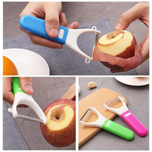 Stainless steel plastic Apple Peeler Fruit paring knife melon and Fruit peeler knife Creative vegetable tools T9I00343