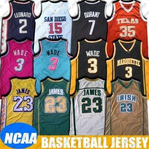 NCAA St. Vincent-Highschool James 23 Trikots LeBron 3 Dwyane Wade Jersey 8-6 Kevin 35 Jersey College-Durant Leonard Basketball Jerseys