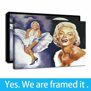 Ilustraciones capítulo Marylin Monroe pinturas al óleo retrato sonrisa HD imprime sobre lienzo pinturas de arte de la pared para la decoración del hogar listo para colgar